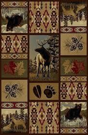 rustic cabin lodge area rugs u2013 goldenbridges