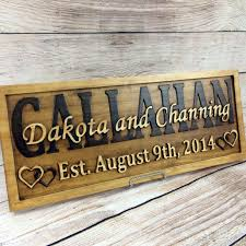 wedding gift signs buy a custom family name sign wedding name sign wedding date sign