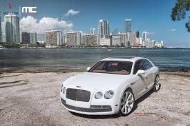 white bentley sedan bentley with rims 2014 bentley flying spur on vellano wheels