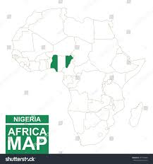 Nigeria Map Africa by Africa Contoured Map Highlighted Nigeria Nigeria Stock