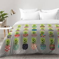 east urban home bianca green pineapple party comforter set