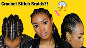 crochet stitch braids for short hair beginners w elastics summer