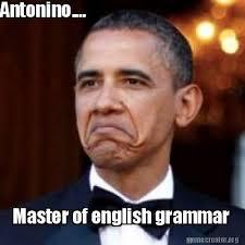 Grammar Meme - meme creator antonino master of english grammar meme generator