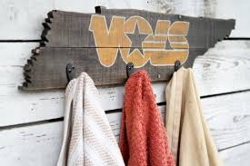 Tennessee Vols Home Decor Rustic University Of Tennessee Vols Towel Coat Rack