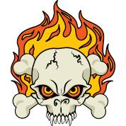 flaming skull and crossbones mug spreadshirt