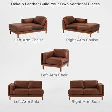 Sectional Loveseat Sofa Build Your Own Dekalb Sectional Pieces West Elm