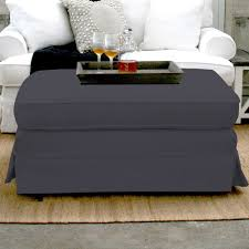 No Sew Slipcover For Sofa Ottomans Oversized Square Ottoman Slipcover Sofa Covers Walmart