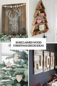 Wood Christmas Ornament 38 Reclaimed Wood Christmas Décor Ideas Digsdigs