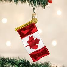 amazon com old world christmas canadian flag glass blown ornament