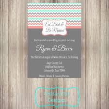 Reception Only Invitations Diy Printable Eat Drink And Be Married Chevron Wedding Reception