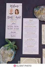 programs for wedding ceremony wedding ceremony programs with wedding party portraits