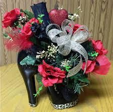 high heel shoe valentine arrangement flower ideas pinterest