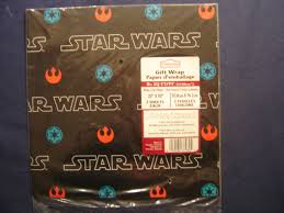 wars wrapping paper sw logo outlines rebel imperial symbols gift wrap pack