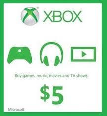 5 gift cards free microsoft xbox live 5 gift card code prepaid