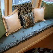 Cushions For Window Bench How To Make No Sew Window Seat Cushions Craft Room Update Home