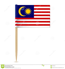 Malaysai Flag Flag Malaysia Toothpick White Background Eps 89093305 Jpg