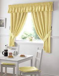 Yellow And White Kitchen 15 Personalized Kitchen Curtains Yellow Gingham Idea For Custom