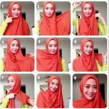tutorial memakai jilbab paris yang simple tutorial hijab segi empat untuk wajah lonjong mudah dan kreatif