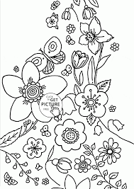spring coming coloring page for kids seasons coloring pages