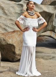 turmec off shoulder casual beach wedding dresses
