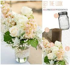 jar centerpieces lace and burlap jar centerpieces allfreediyweddings