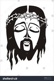 face jesus christ thorn crown stock vector 43366303 shutterstock