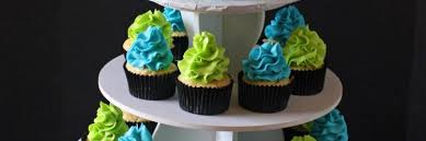 turquoise u0026 lime green baby shower cake and cupcake tower rose bakes
