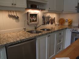 Traditional Kitchen Backsplash Beadboard Backsplash Trim It With Rustic Wood Slats Our New