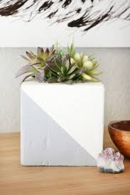 faux concrete planter