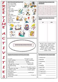 free time activities vocabulary exercises worksheet free esl