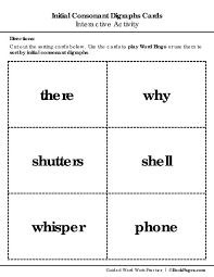 the lorax word work initial consonant digraphs third grade