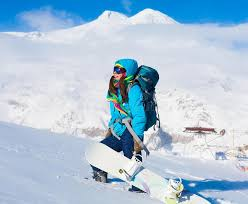 snowboard winter rides goggles elbrus stock image image