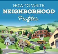 how to write neighborhood profiles real estate web site design