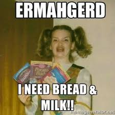 Grocery Meme - the best bread milk memes about storm jonas show people aren t