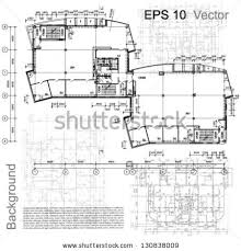 architectural design floor plans standard office furniture symbols set used stock vector 379376545