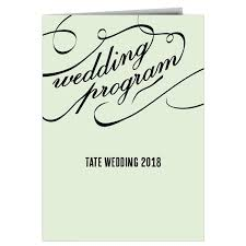 program paper wedding programs match your colors style free basic invite