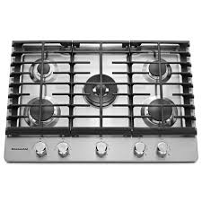 kitchenaid 30 in gas cooktop in stainless steel with 5 burners