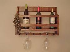 oak wall mounted wine racks u0026 bottle holders ebay