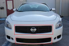 custom nissan maxima 2002 2011 nissan maxima 4pc replacement billet grille kit