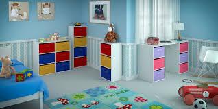 home source kids desk toy storage 6 canvas drawers for children u0027s