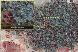 satellite maps 2015 boko haram satellite images town of baga