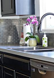 subway tiles for backsplash in kitchen easy sleek u0026 chic subway tile backsplash