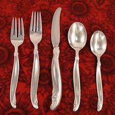1847 rogers leilani silverware set vintage 1961 silver plate