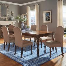 Dining Room 7 Piece Sets Homesullivan Cherry Hill 7 Piece Rich Cherry And Black Dining Set
