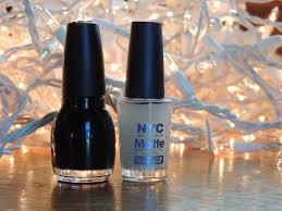 brittany u0027s secret black latex inspired nails using nyc matte me