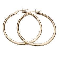 9ct gold hoop earrings earrings h samuel