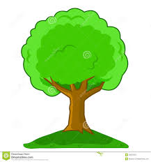 Tree Cartoon Big Green Tree Isolated White Stock Photos 8 Images