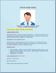 safety officer resume template u2013 excel word templates