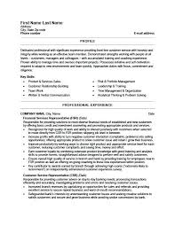 Client Services Manager Resume Bank Customer Service Resume Sample Financial Services Resume