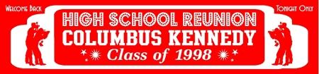 high school reunion banner custom class reunion banners decorations for class reunions